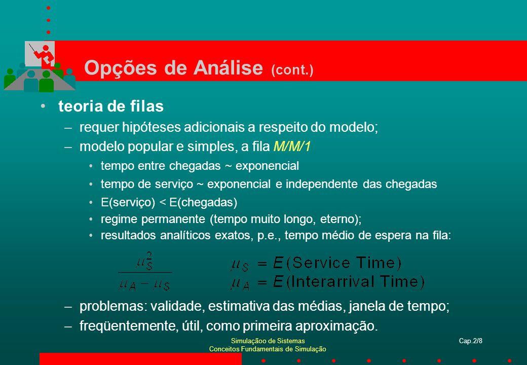 Opções de Análise (cont.)