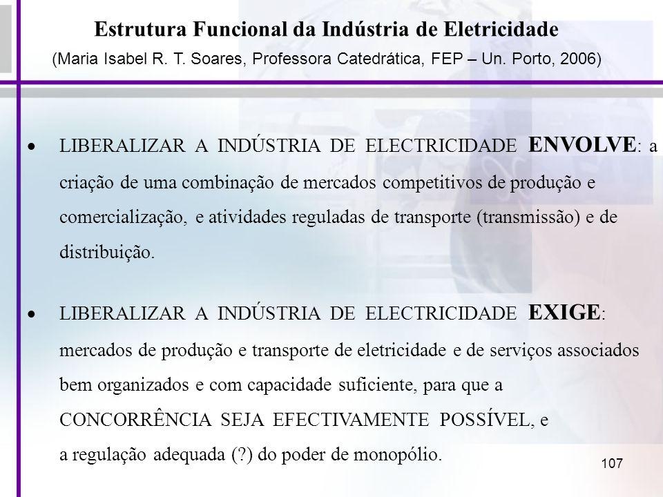Estrutura Funcional da Indústria de Eletricidade