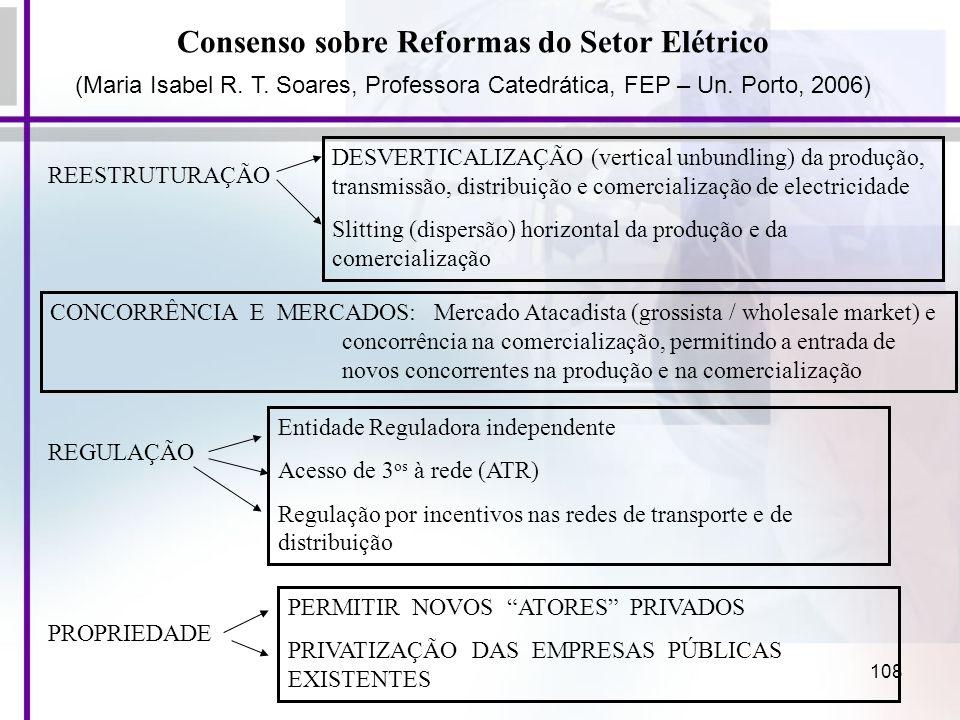 Consenso sobre Reformas do Setor Elétrico