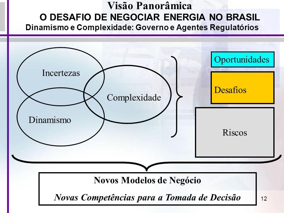 Visão Panorâmica O DESAFIO DE NEGOCIAR ENERGIA NO BRASIL Oportunidades