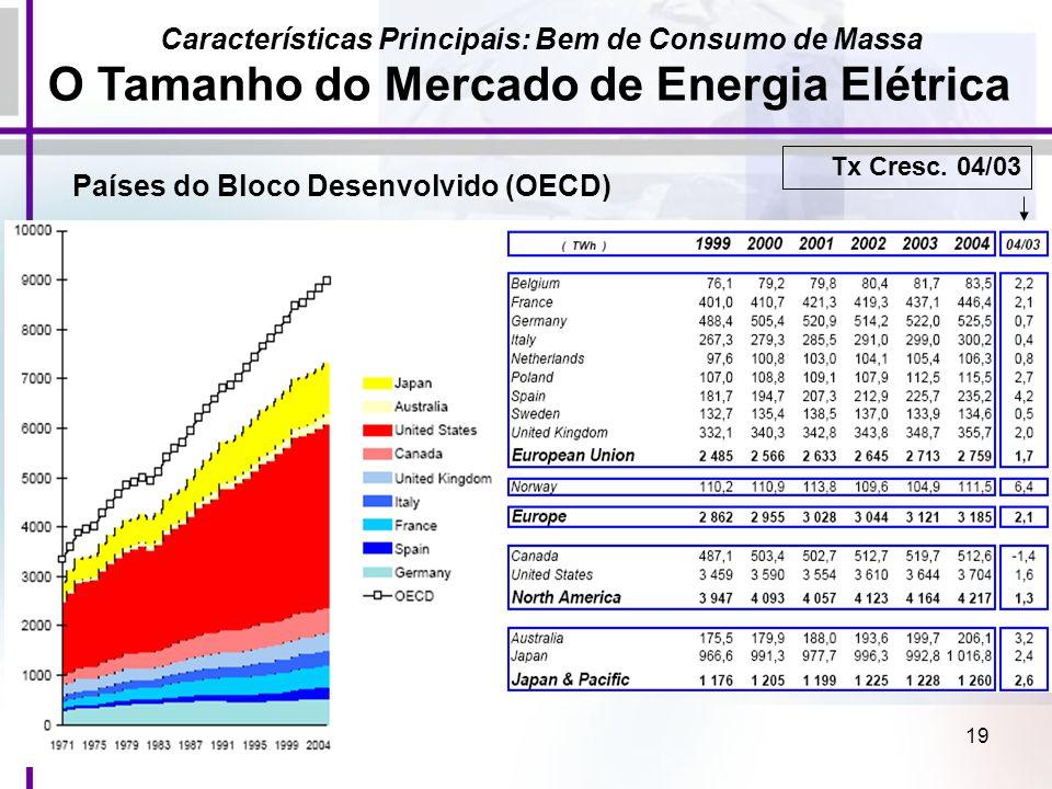 O Tamanho do Mercado de Energia Elétrica