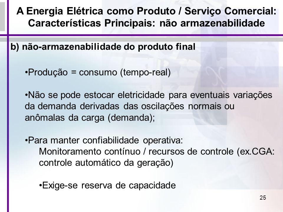 A Energia Elétrica como Produto / Serviço Comercial:
