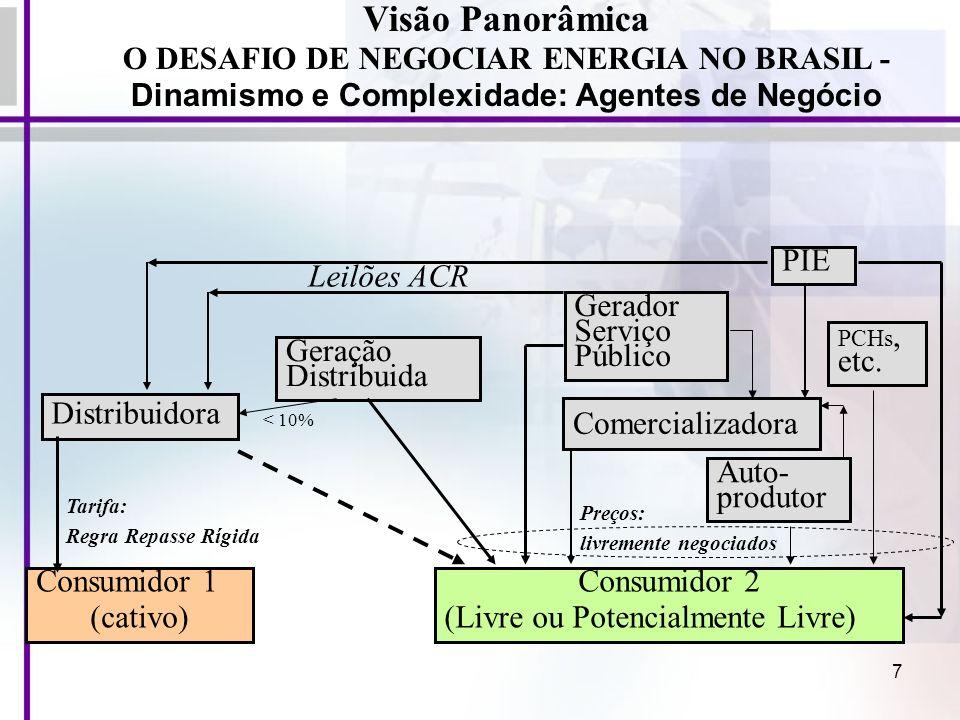 Visão Panorâmica O DESAFIO DE NEGOCIAR ENERGIA NO BRASIL -