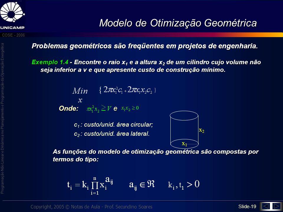 Modelo de Otimização Geométrica