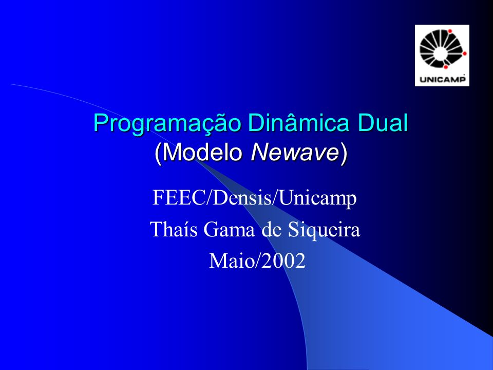 Programação Dinâmica Dual (Modelo Newave)