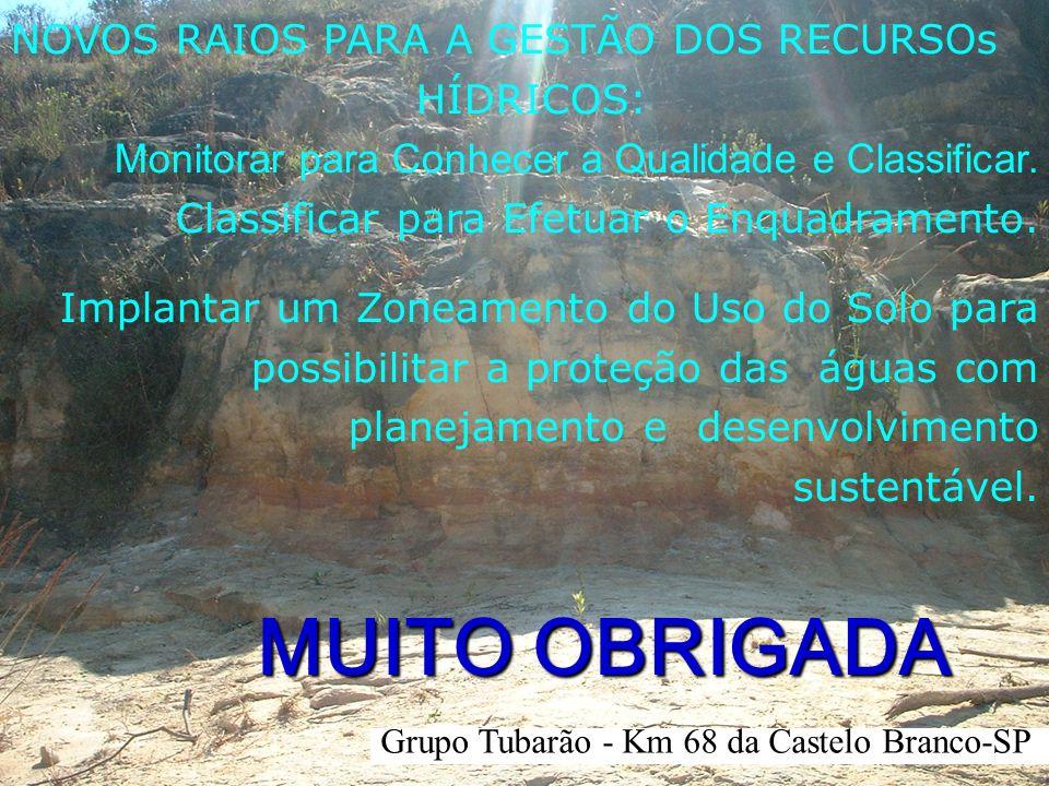MUITO OBRIGADA NOVOS RAIOS PARA A GESTÃO DOS RECURSOs HÍDRICOS: