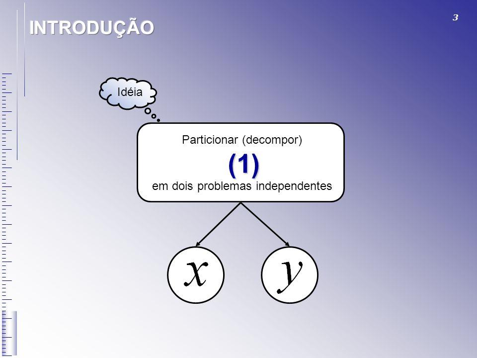 INTRODUÇÃO Idéia Particionar (decompor) (1)