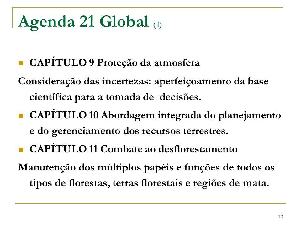 Agenda 21 Global (4) CAPÍTULO 9 Proteção da atmosfera