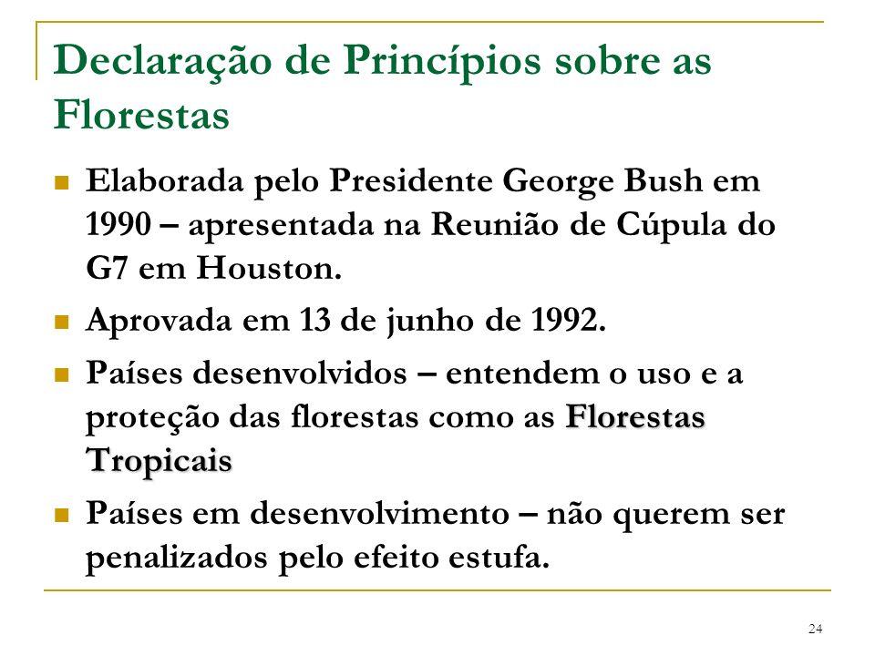 Declaração de Princípios sobre as Florestas