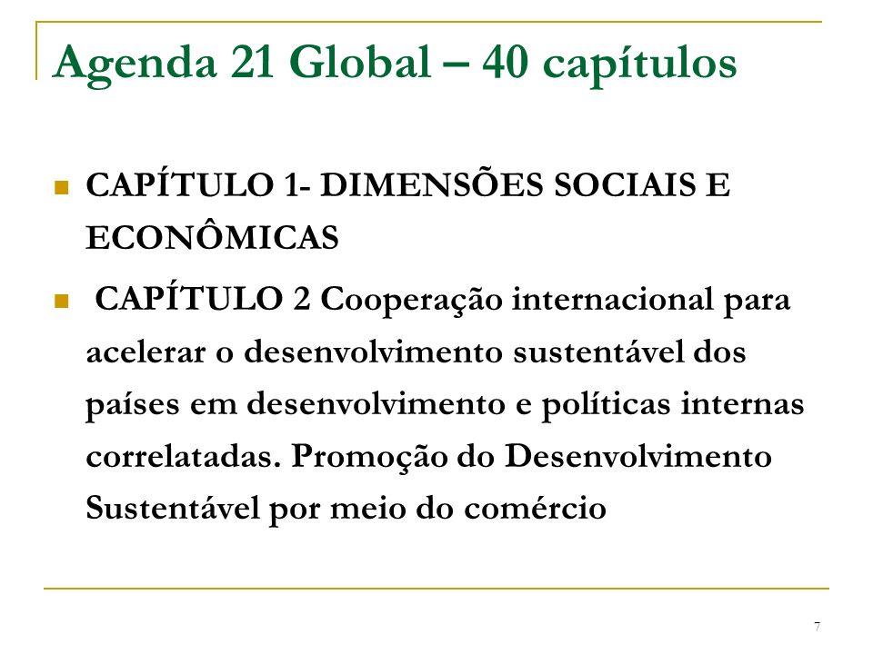 Agenda 21 Global – 40 capítulos