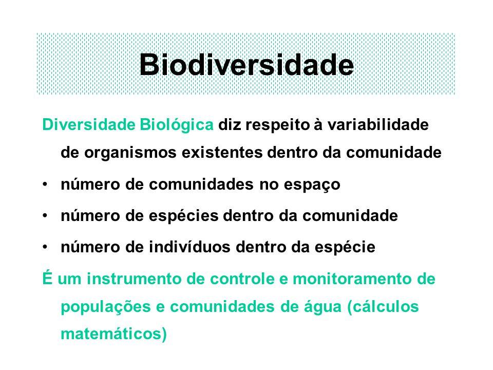 Biodiversidade Diversidade Biológica diz respeito à variabilidade de organismos existentes dentro da comunidade.