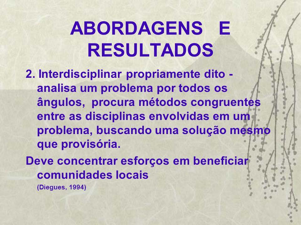 ABORDAGENS E RESULTADOS