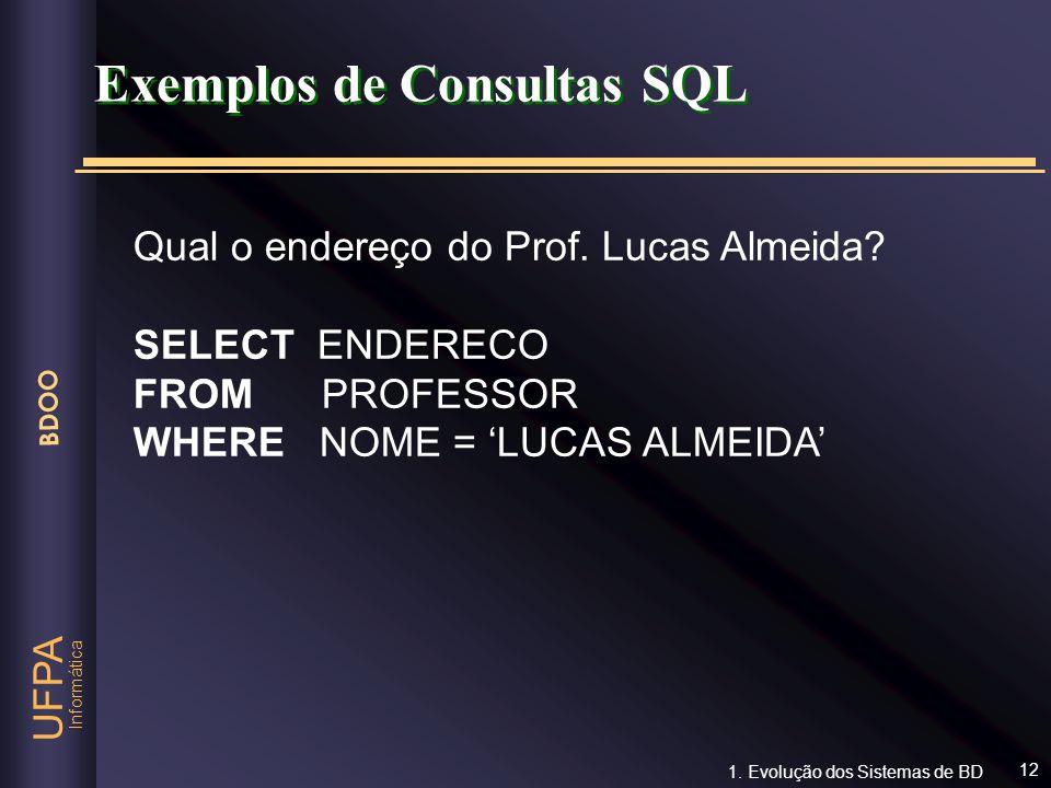 Exemplos de Consultas SQL