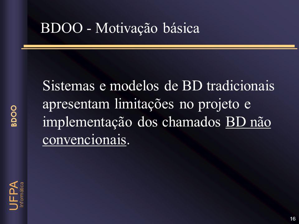 BDOO - Motivação básica