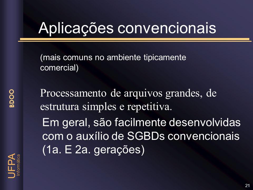 Aplicações convencionais