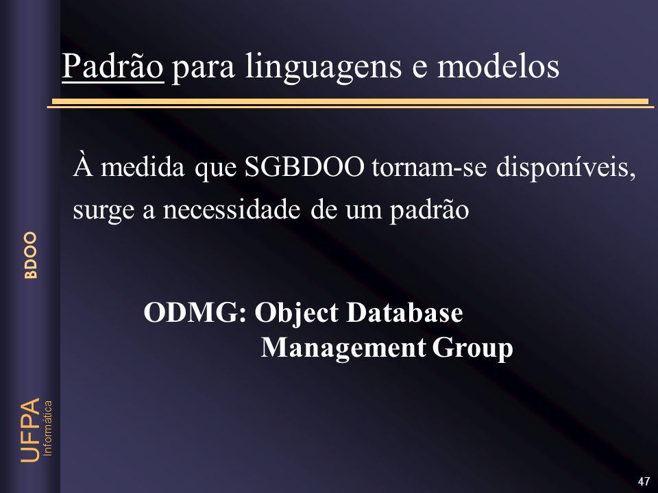 Padrão para linguagens e modelos
