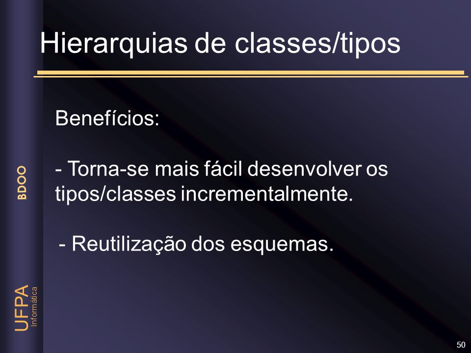 Hierarquias de classes/tipos