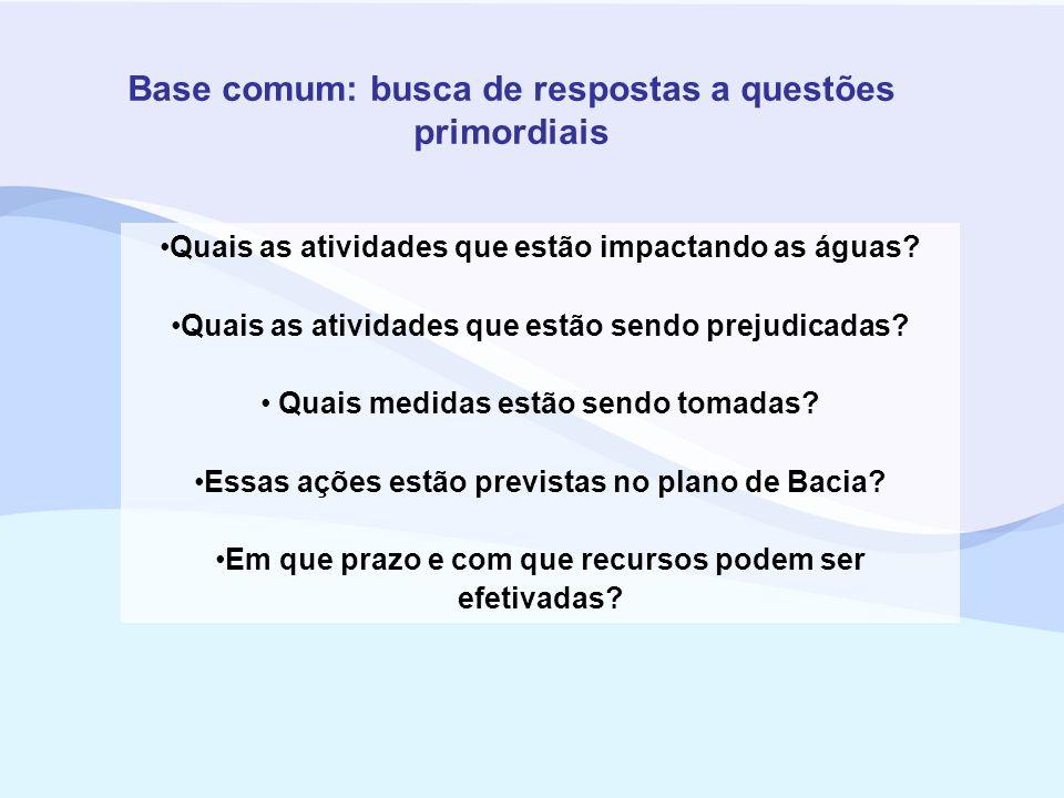 Base comum: busca de respostas a questões primordiais