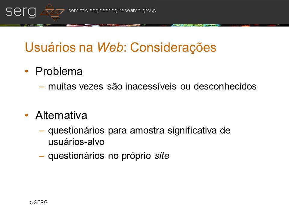 Usuários na Web: Considerações