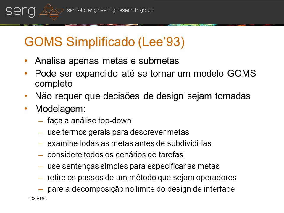 GOMS Simplificado (Lee'93)