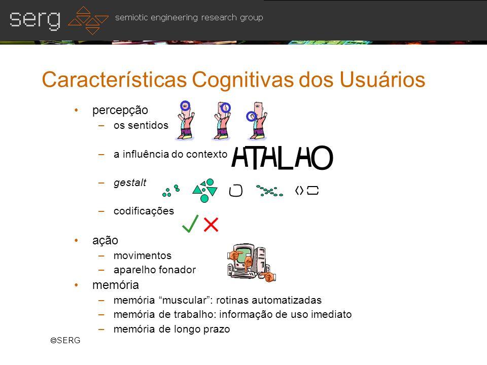 Características Cognitivas dos Usuários