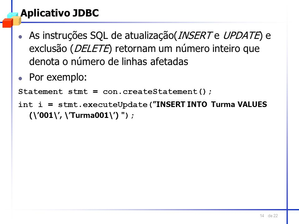 Aplicativo JDBC