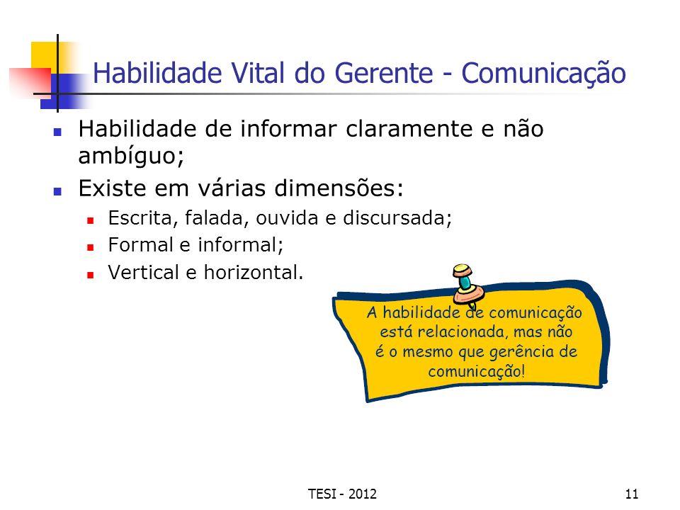 Habilidade Vital do Gerente - Comunicação