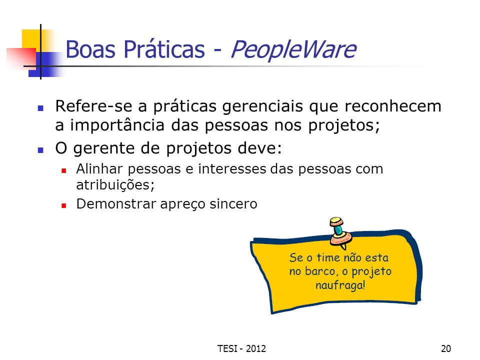 Boas Práticas - PeopleWare