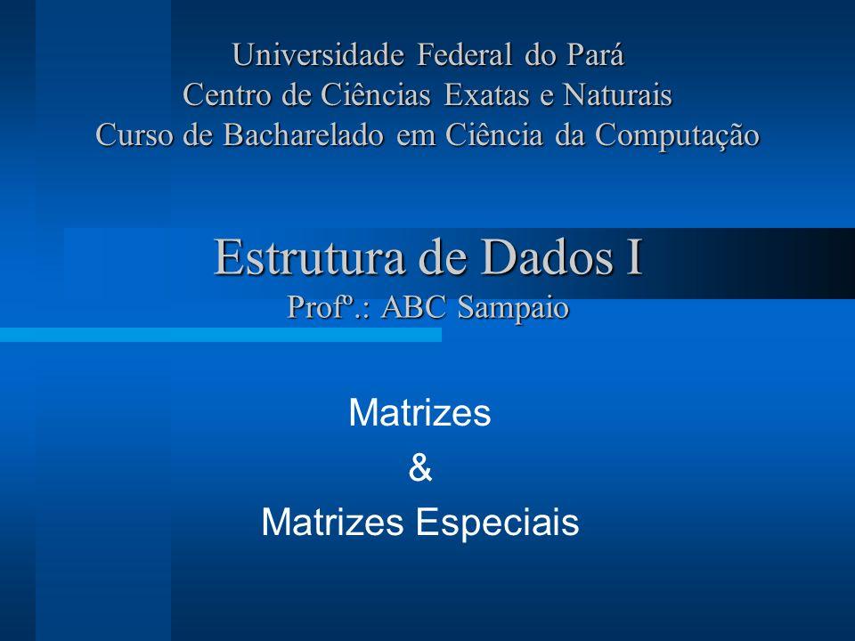 Estrutura de Dados I Profº.: ABC Sampaio