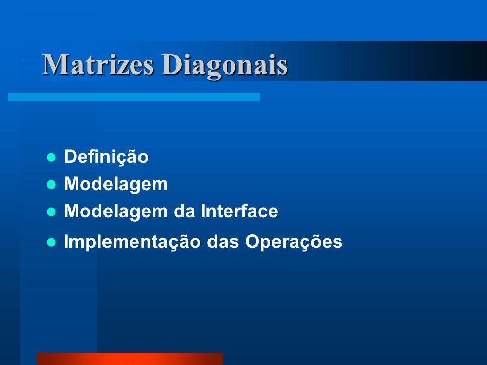 Matrizes Diagonais Definição Modelagem Modelagem da Interface