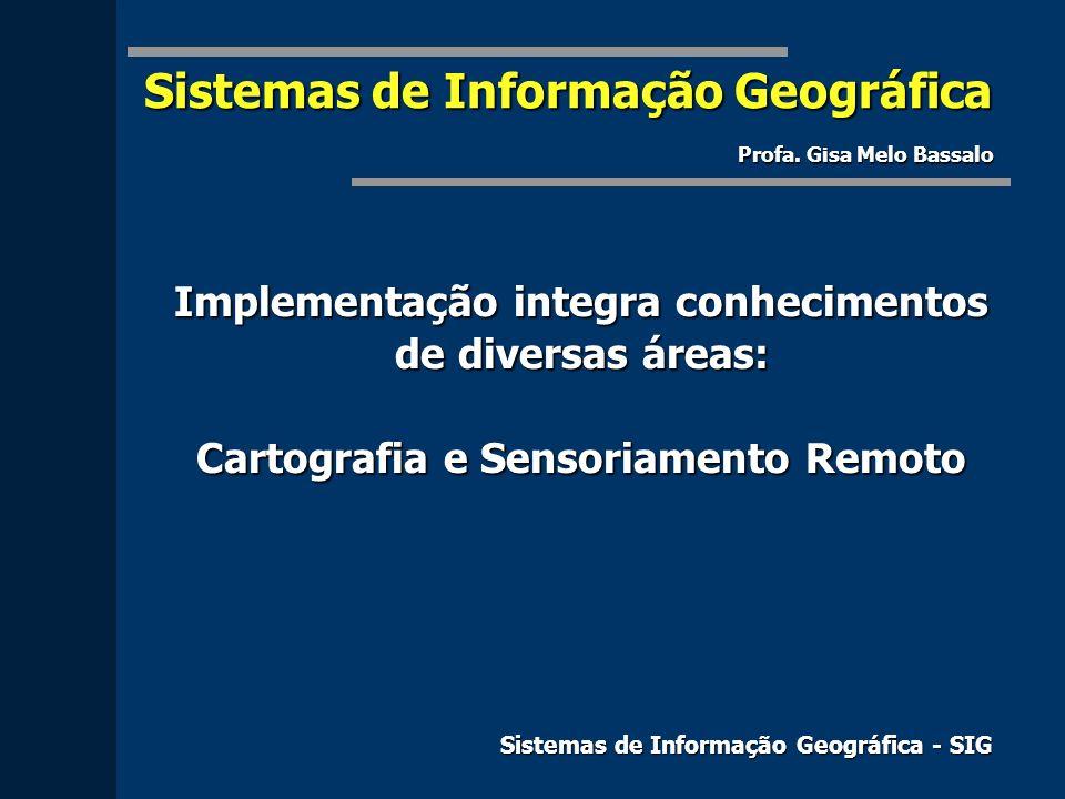 Sistemas de Informação Geográfica Profa. Gisa Melo Bassalo