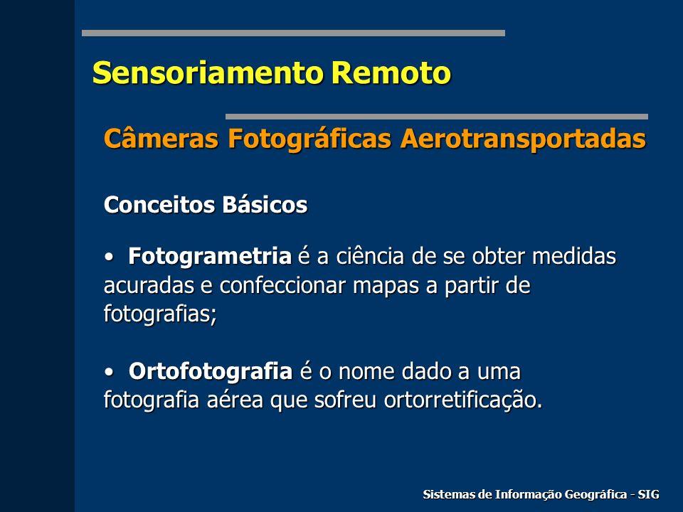 Sensoriamento Remoto Câmeras Fotográficas Aerotransportadas