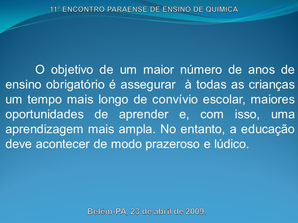 11º ENCONTRO PARAENSE DE ENSINO DE QUÍMICA