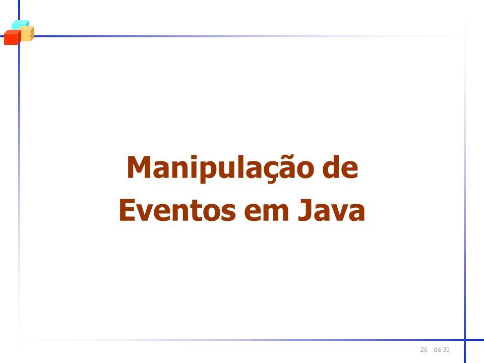 Manipulação de Eventos em Java