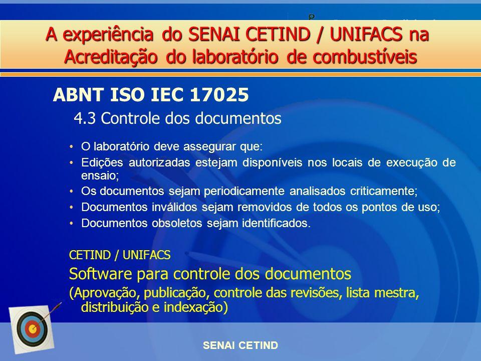 ABNT ISO IEC 17025 4.3 Controle dos documentos