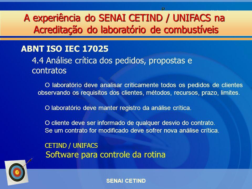 4.4 Análise crítica dos pedidos, propostas e contratos