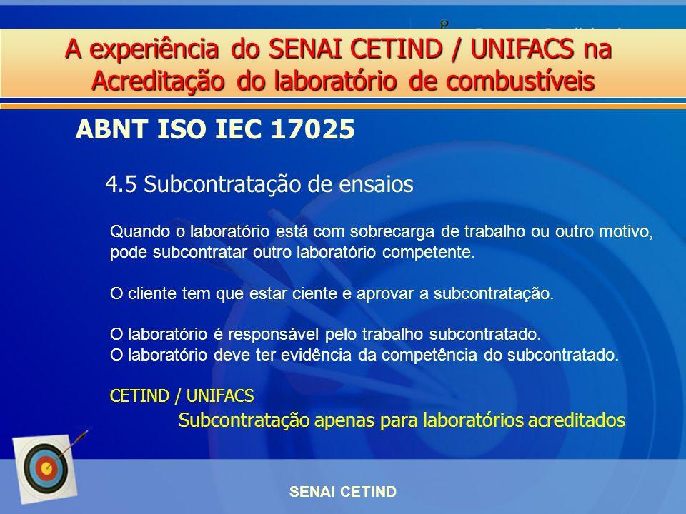 ABNT ISO IEC 17025 4.5 Subcontratação de ensaios
