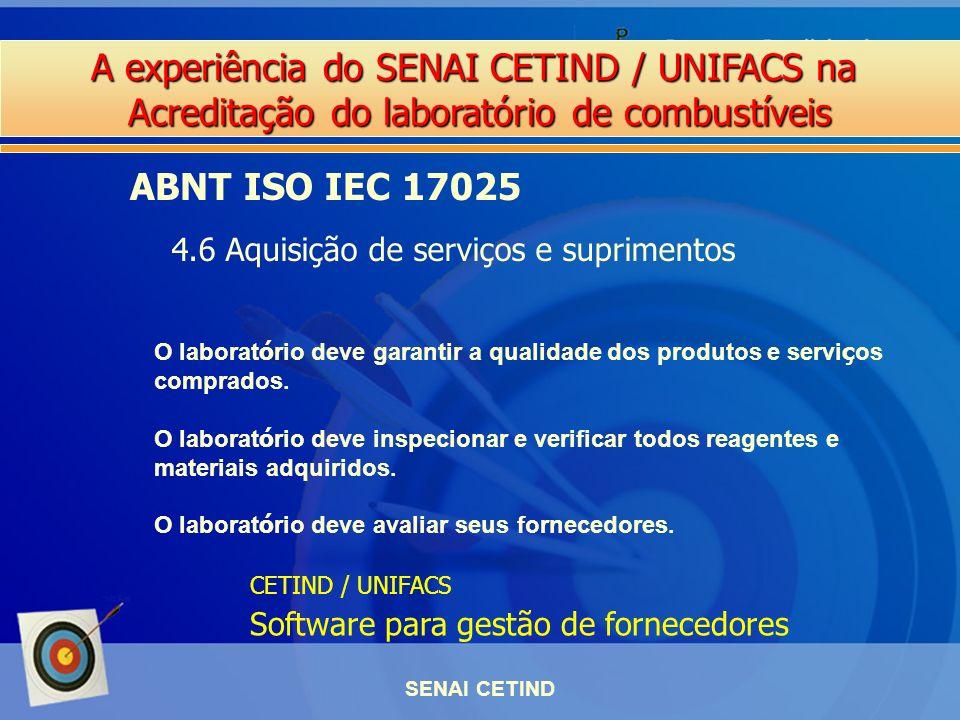 ABNT ISO IEC 17025 4.6 Aquisição de serviços e suprimentos