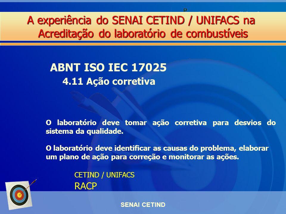 ABNT ISO IEC 17025 4.11 Ação corretiva RACP