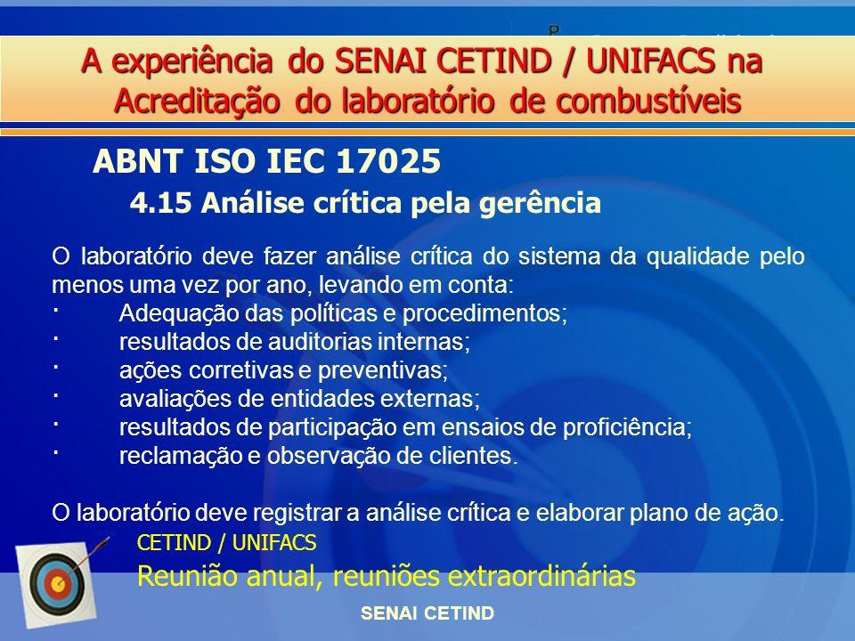 ABNT ISO IEC 17025 4.15 Análise crítica pela gerência
