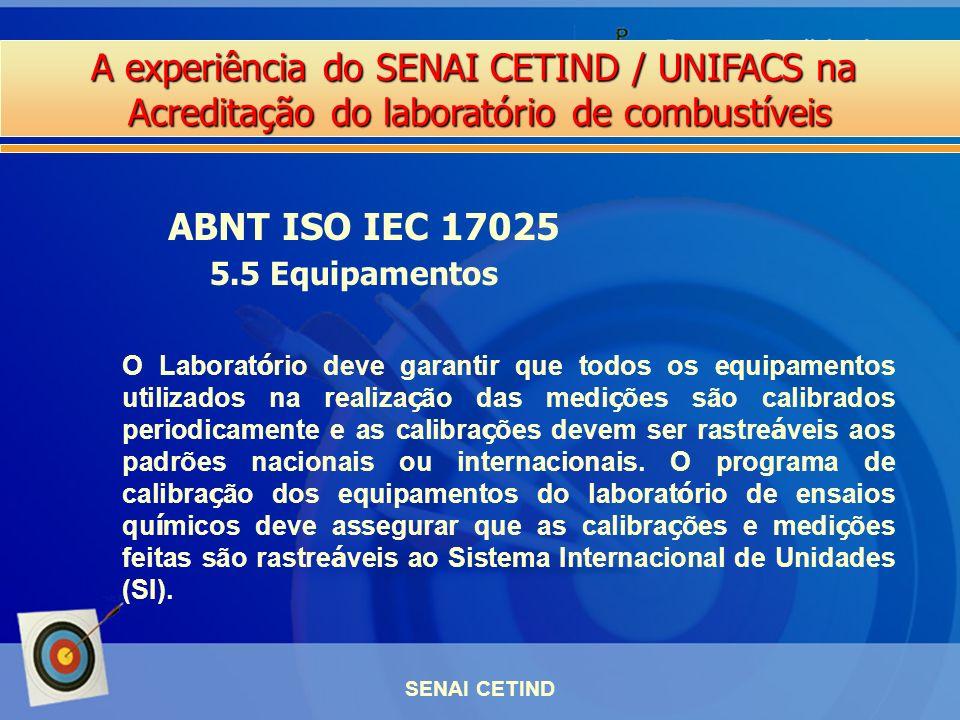 ABNT ISO IEC 17025 5.5 Equipamentos