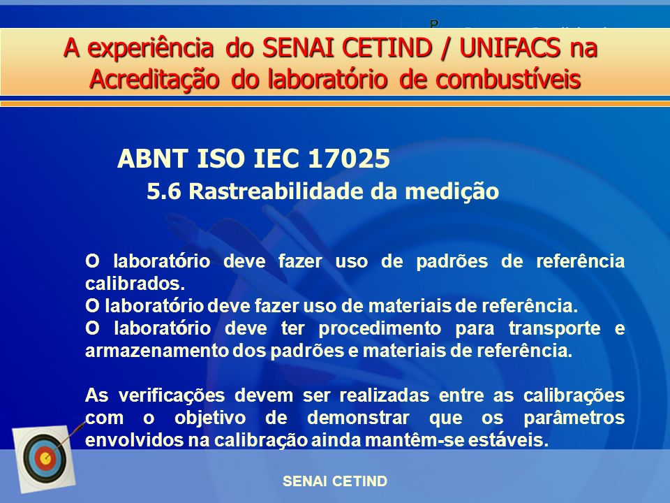 ABNT ISO IEC 17025 5.6 Rastreabilidade da medição