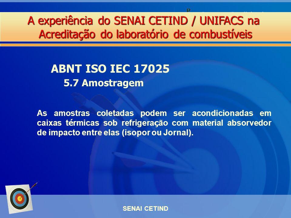 ABNT ISO IEC 17025 5.7 Amostragem