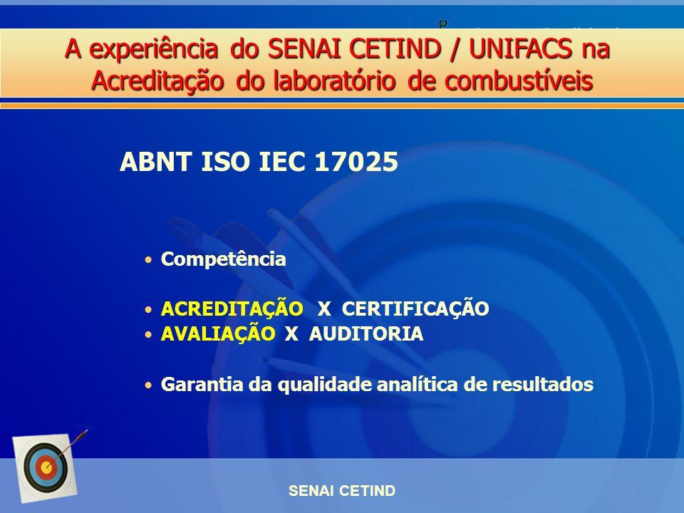 ABNT ISO IEC 17025 Competência ACREDITAÇÃO X CERTIFICAÇÃO
