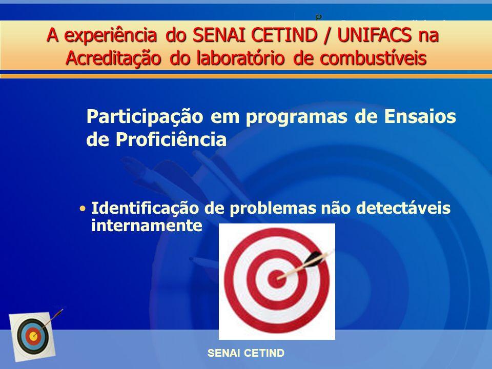 Participação em programas de Ensaios de Proficiência