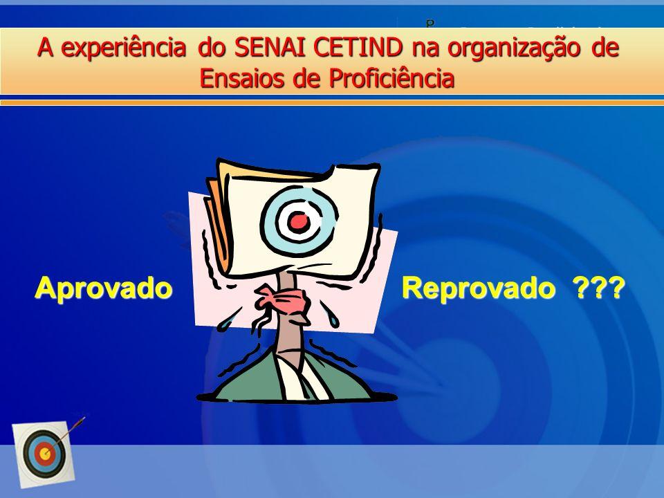 Aprovado Reprovado A experiência do SENAI CETIND na organização de
