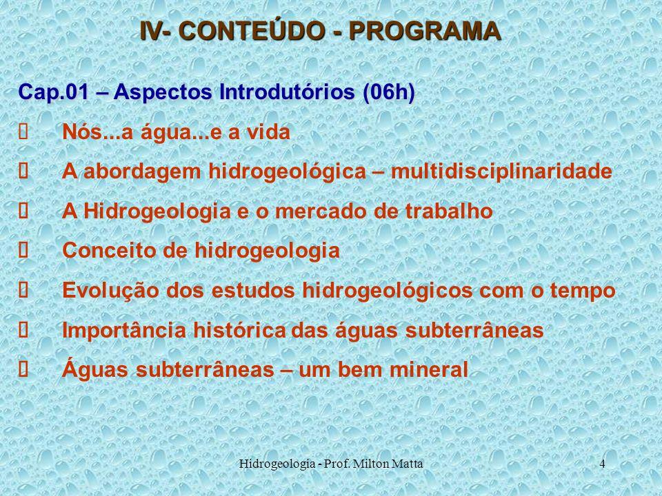 IV- CONTEÚDO - PROGRAMA
