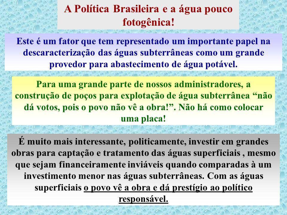 A Política Brasileira e a água pouco fotogênica!