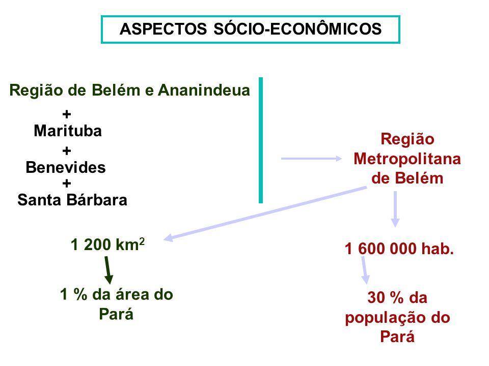 ASPECTOS SÓCIO-ECONÔMICOS Região Metropolitana de Belém