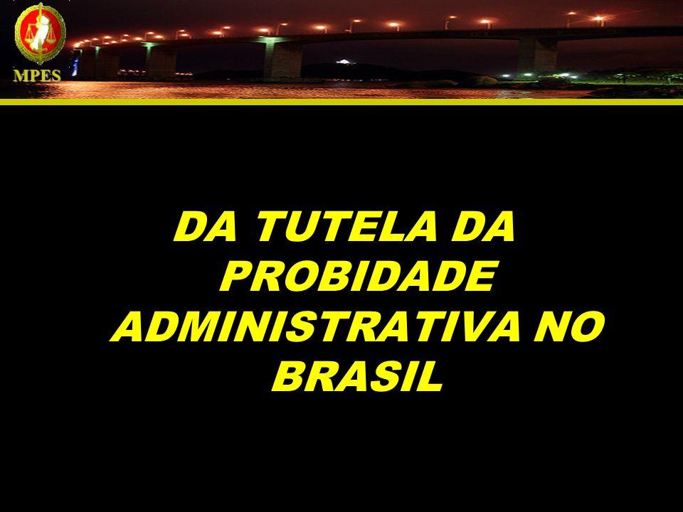 DA TUTELA DA PROBIDADE ADMINISTRATIVA NO BRASIL